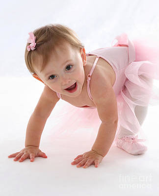 Baby Ballerina Print by Suzi Nelson