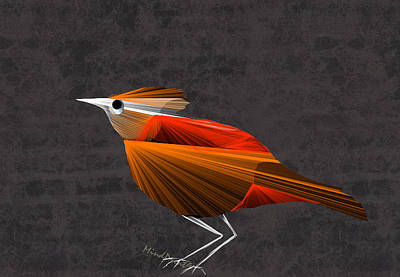 Digital Digital Art - Baby Bird by Asok Mukhopadhyay