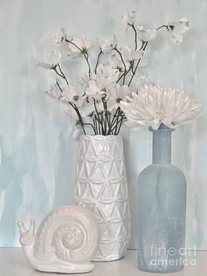 Wrap Digital Art - Baby Blue Still by Marsha Heiken
