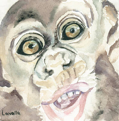 Baby Chimp Original by Kimberly Lavelle