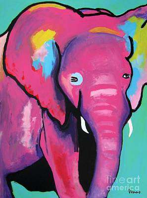 Painting - Baby Elephant by Venus