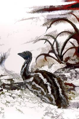 Emu Digital Art - Baby Emu by Pennie  McCracken