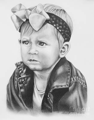 Denim Drawing - Baby Girl by Lena Auxier
