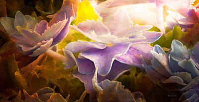 Mural Photograph - Baby Hydrangeas by Bob Orsillo