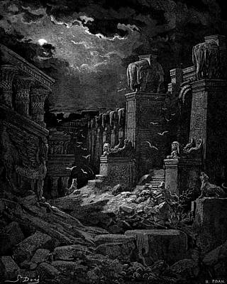 Bible Painting - Babylon Fallen by Celestial Images