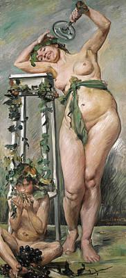 Lovis Corinth Painting - Baccante by Lovis Corinth