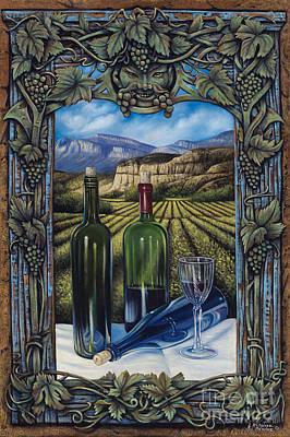 Patina Painting - Bacchus Vineyard by Ricardo Chavez-Mendez