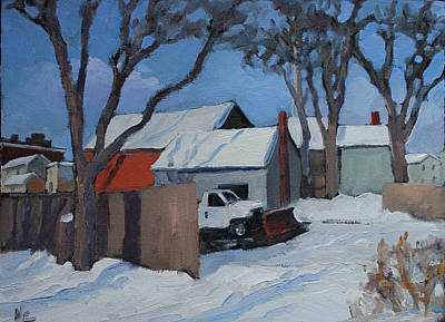 Saugerties Painting - Back Lots Saugerties by Nancy Campbell