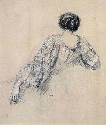 Back Of A Young Woman Print by Antoine Auguste Ernest Herbert