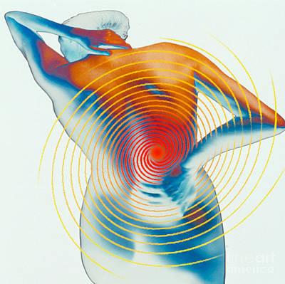 Back Pain Print by Dennis D Potokar