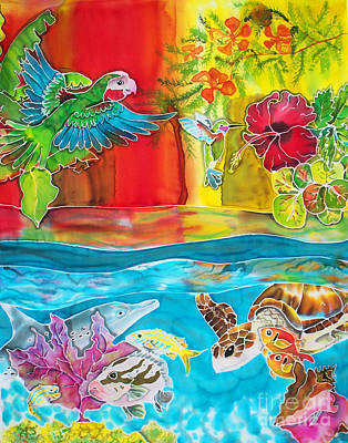 Scuba Painting - Back To Eden by TIFF Barrett