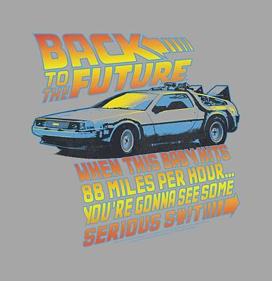 Fox Digital Art - Back To The Future - 88 Mph by Brand A