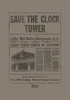 Fox Digital Art - Back To The Future - Clock Tower by Brand A