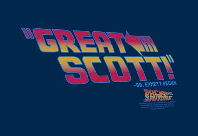 Fox Digital Art - Back To The Future - Great Scott by Brand A