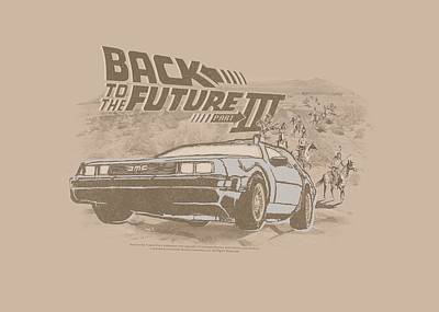 Fox Digital Art - Back To The Future IIi - Carboys And Indians by Brand A