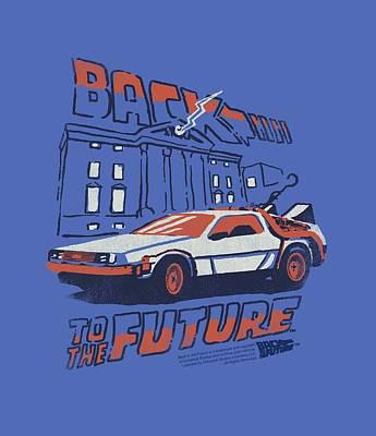 Fox Digital Art - Back To The Future - Lightning Strikes by Brand A