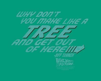 Fox Digital Art - Back To The Future - Make Like A Tree by Brand A