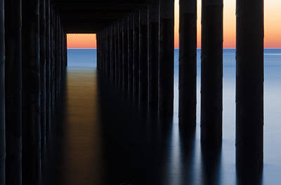 Back Under The Pier Print by Steve Myrick