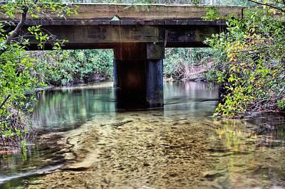 Back Water River Bridge Print by JC Findley