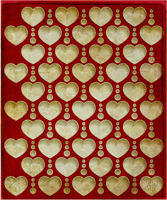Abstract Digital Drawing - Background Heart  by Irina Effa