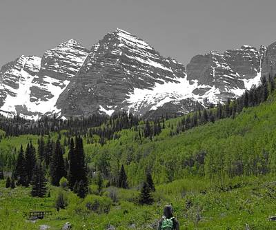 Backpacking In Aspen Colorado Print by Dan Sproul