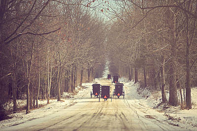 Winter-landscape Photograph - Backroad Buggies by Carrie Ann Grippo-Pike