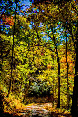 Great Smokey Mountains Painting - Backroads Of The Great Smoky Mountains National Park by John Haldane