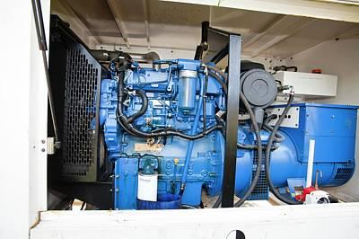 Backup Diesel Generators Print by Ashley Cooper