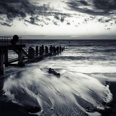 Izzy Photograph - Backwash At The Jetty by Izzy Standbridge