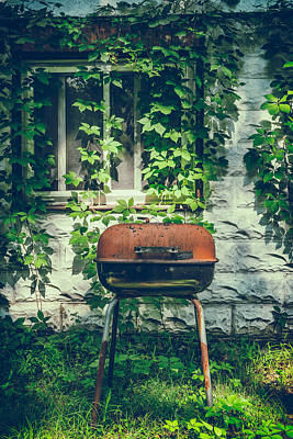 Overgrown Photograph - Backyard Bbq by Joseph Smith