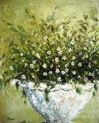 Plaster Of Paris Painting - Bacopa Urn by Doria Fochi
