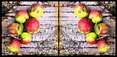Bad Apples Diptych Print by Barbara Griffin