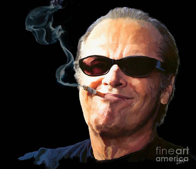Jack Nicholson Painting - Bad Boy by Paul Tagliamonte