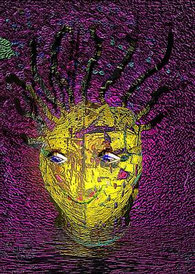 Outrageous Mixed Media - Bad Hair Day by Irma BACKELANT GALLERIES
