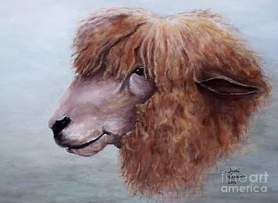 Lamb Painting - Bad Hair Day by Judy Kirouac