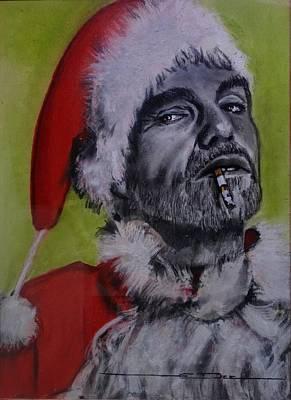 Painting - Bad Santa by Eric Dee