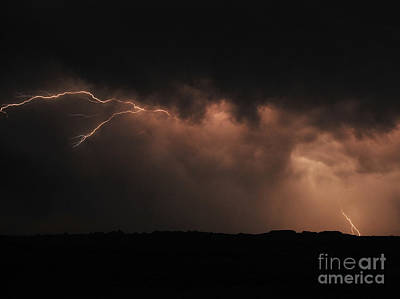 Badlands Lightning Print by Chris  Brewington Photography LLC