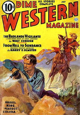 Cowboy Hat Photograph - Badlands Vigilante by Studio Art