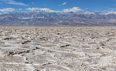 Badwater Basin - Death Valley Print by Sandra Bronstein