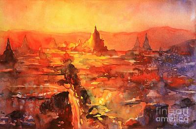 Bagan Ruins Original by Ryan Fox