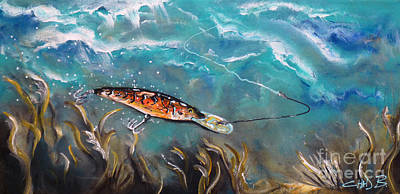 Musky Painting - Bagley's Deep Dive by Chad Berglund