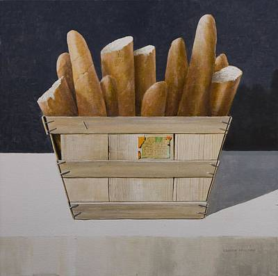 Baguettes Photograph - Baguettes, 2010 Acrylic On Canvas by Lincoln Seligman