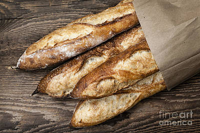 Freshly Photograph - Baguettes Bread by Elena Elisseeva