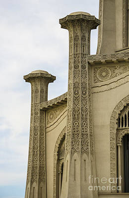 Architectural Photograph - Baha'i House Of Worship Towers Detail Wilmette Illinois by Deborah Smolinske