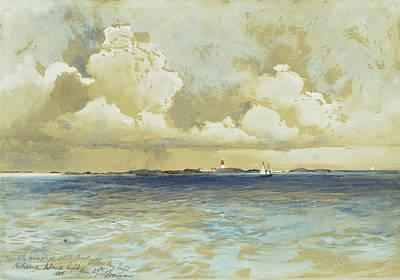 Marine Painting - Bahama Island Light by Thomas Moran