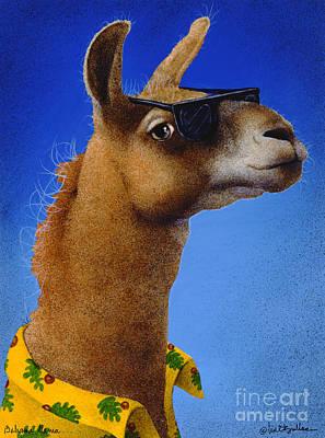 Llamas Painting - Bahama Llama... by Will Bullas