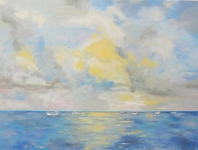 Bahamian Skies Print by Barbara Anna Knauf