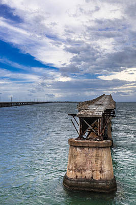 Bahia Honda Bridge By Day Original by Dan Vidal