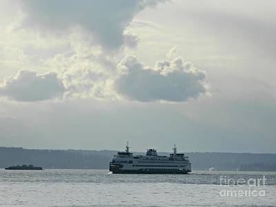 Neurotic Images Photograph - Bainbridge Island Ferry  by Chalet Roome-Rigdon