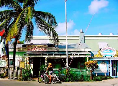 Bait And Tackle Key West Print by Iconic Images Art Gallery David Pucciarelli